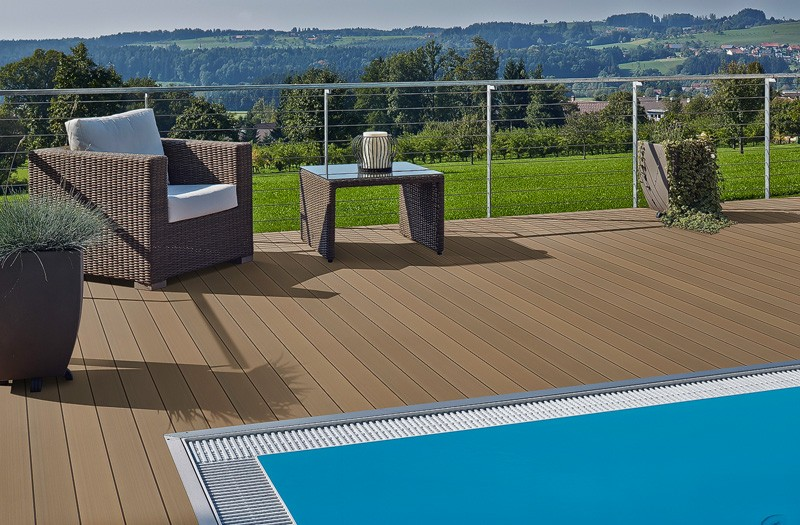 Extrem Schwimmende Verlegung von WPC Terrassendielen, ohne Verschrauben YE36